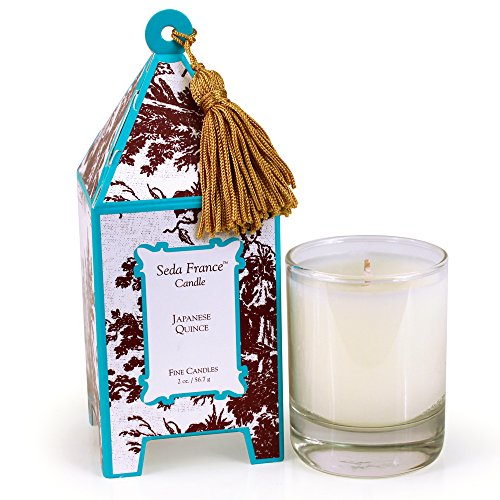 (Seda France Classic Toile Mini Pagoda Box Candle, Japanese Quince, 2 Ounce)