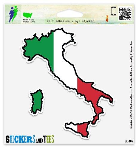 Italy Map Flag Vinyl Car Bumper Window Sticker 4