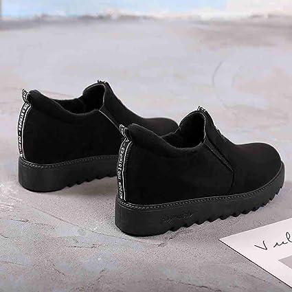 Longra Zapatos Mujer Plataforma,Zapatos de tacón de cuña con Terciopelo más Zapatos de Estudiante aumentados: Amazon.es: Ropa y accesorios