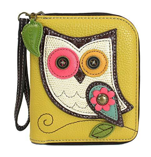 - Chala Zip Around Wallet - Owl Mustard Yellow