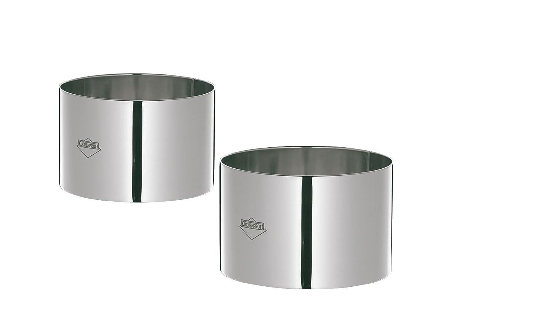 """Kuchenprofi K0905052804 4-Piece 3-Inch Stainles Steel Food prep/Plating/Forming Rings, 3"""""""