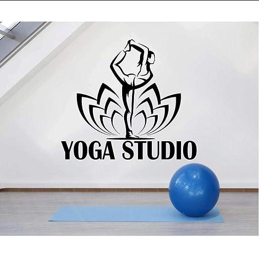 Vinilo adhesivo de pared calcomanía yoga studio logo pose ...