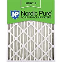 Nordic Pure 20x24x4M13-2 20x24x4 MERV 13 Pleated AC Furnace Air Filter, Box of 2, 4-Inch