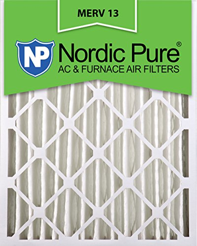 Nordic Pure 16x24x4M13-2 16x24x4 MERV 13 Pleated AC Furnace Air Filter, Box of 2, 4-Inch
