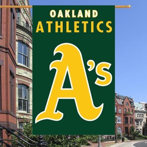 Party Animal Oakland Athletics Green Vertical Applique Flag
