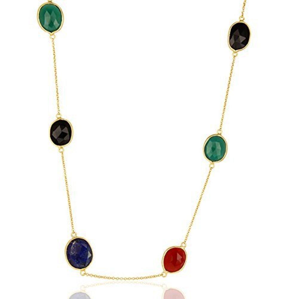 Nathis Multi Gemstone Necklace