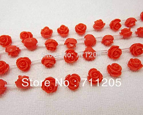 - Calvas Wholesale 25pcs, 10-11mm Orange Red Synthetic Resin Rose Beads,Min.Order $10,we Provide Mixed Wholesale for All Items !