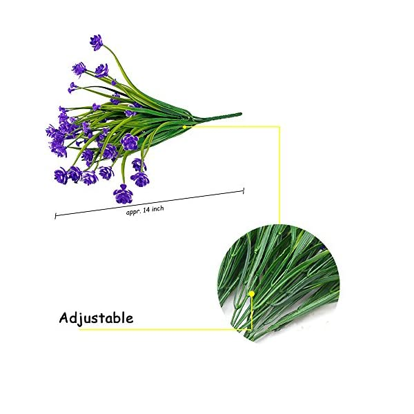 HOONAO-4pcs-Artificial-Fake-FlowersFaux-Purple-Daffodils-Outdoor-Greenery-Plants-Shrubs-Plastic-Bushes-Indoor-Outside-Hanging-Planter-Home-Garden-Decoration