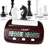 Robolife Professional LEAP PQ9907S Digital Chess Clock Count Up Down Timer with Clock