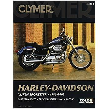 Amazon.com: Clymer Harley-Davidson XL/XLH Sportster (1986 ... on