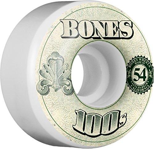 Bones Wheels OG 100's #11 V4, White, 54 mm