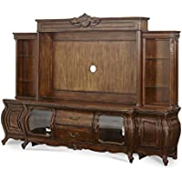 Aico Amini Lavelle Melange Entertainment Center in Warm Brown (Entertainment w Piers)
