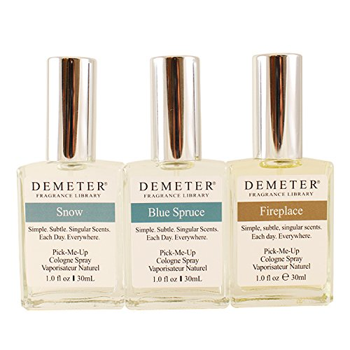 Signature Blending Trio by Demeter for Unisex - 3 Pc Gift Set 1oz Snow Cologne Spray, 1oz Blue Spruce 2016 Cent Preview Cologne Spray, 1oz Fireplace Cologne Spray (Limited Edition) DEMT1