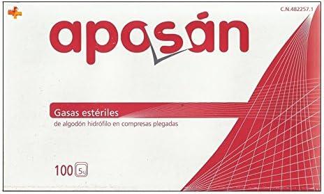 Aposán Gasas Estériles de Algodón Hidrófilo 100 unds
