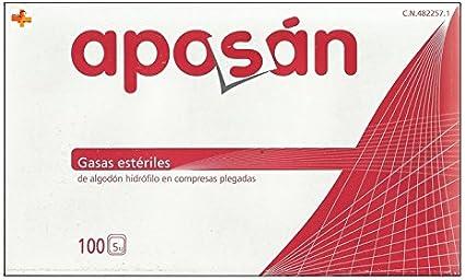 Aposán Gasas Estériles de Algodón Hidrófilo 100 unds: Amazon.es ...