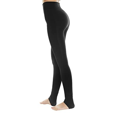 ad55d0bec5dbde Middletone Women's Winter Thick Warm Fleece Lined Thermal Stretchy Leggings  Pants (Black ...