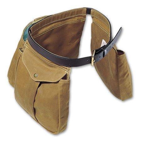 Filson Leather Bridle - Filson Tin Cloth Shooting Bag (Tan, Large) 16029