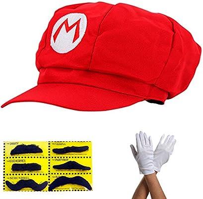 Super Mario Gorra - Disfraz para Adultos y niños en 4 Colores ...