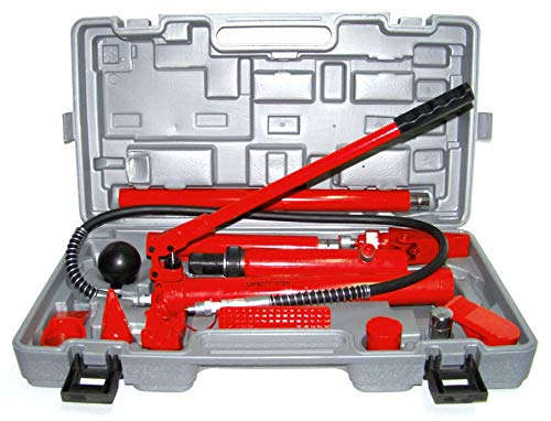 KCHEX>10 TON Porta Power Hydraulic Jack Body Frame Repair KIT Tools>AUTO, Truck Body and Frame Repair Tool KIT Complete KIT Contains The Heavy Duty Hydraulic Equipment You Need for Lifting, Pushing,