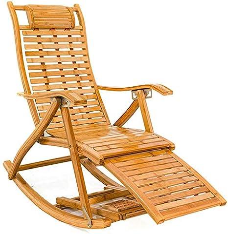 WYJW Chaise Longue de Jardin Chaise berçante de Jardin en ...
