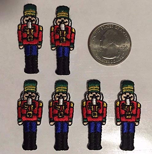 Toy Soldier Palace Guard Nutcracker Embroidered Iron-on Patch 1.5