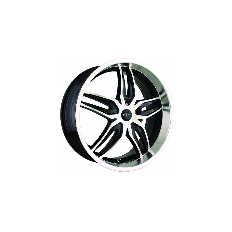 18x7.5 DIP Bionic (D63) (Black w/ Machined Face & Lip) Wheels/Rims 4x100/114.3 (D63 8701B) Automotive