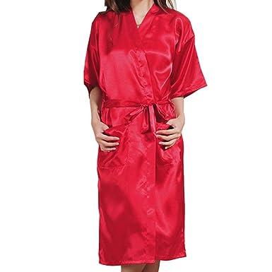 Juleya Estilo Largo Rhinestone Carta Novia Dama de Honor Mañana Vestidos Novia Regalos Fiesta Albornoz Batas para Mujeres: Amazon.es: Ropa y accesorios