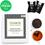 Teabox Black Teas Assorted 44-count Sampler Pack | 10 Tea Varieties of 4 Teapacs each (4 Free Exotic Sample Teapacs included) | 100% Natural Ingredients | Sealed-at- Source Freshness from India
