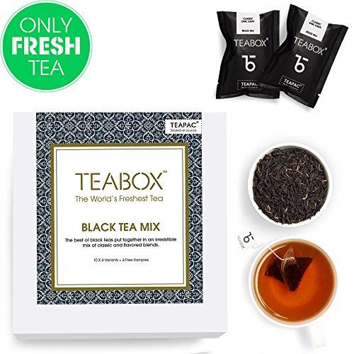 Teabox Black Tea Mix Pack | 10 Varieties of THE BEST Black Teas | Box of 40 Tea Bags (+ 4 Free Samples)
