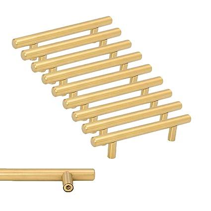 Goldenwarm - 10 tiradores para armarios de cocina (acero ...