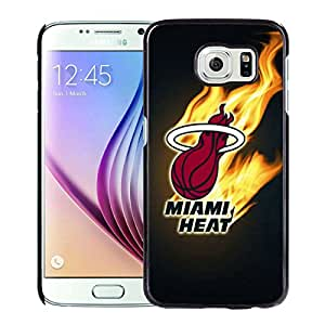 New Custom Design Cover Case For Samsung Galaxy S6 Miami Heat 2 Black Phone Case