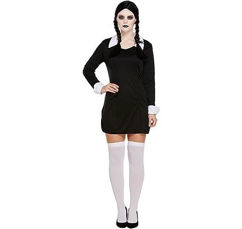 Miércoles miedo COLEGIALA Infantil Disfraz Halloween - S: Amazon.es: Juguetes y juegos