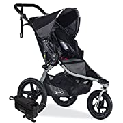 BOB Revolution Flex Jogging Stroller, Black with Handlebar Console and Tire Pump