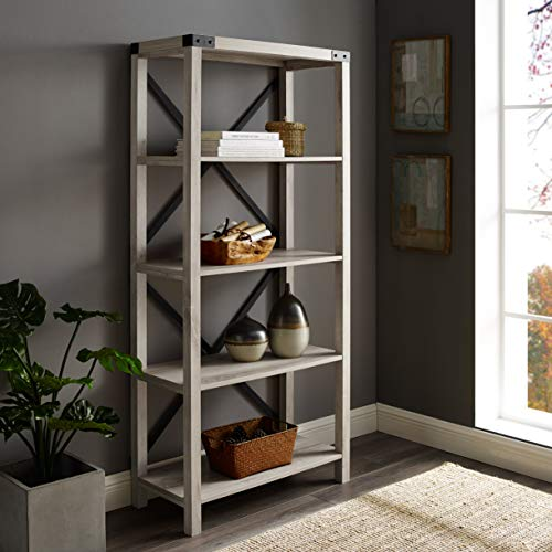 WE Furniture AZS64MXWO Bookshelf, 64