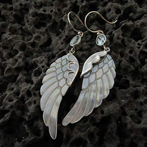 Mother Of Pearl Left Angel Wing Decor: Amazon.com: Angel Wings Earrings. Mother Of Pearl. Blue