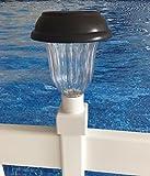 4 SOLAR LIGHTS - 4 Solar Lights for Above Ground Pool Fence.Fits standard 1 1/2'' above ground pool fence post.