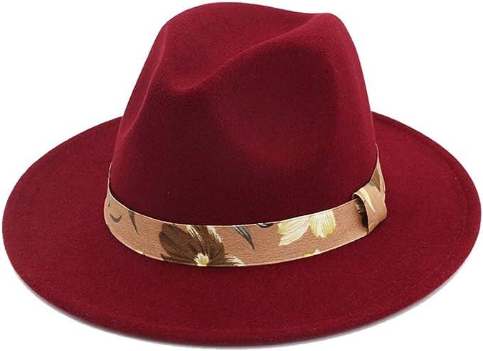 Gysad Vintage Sombrero Panama Paño de Fieltro Jazz Cap Suave y ...