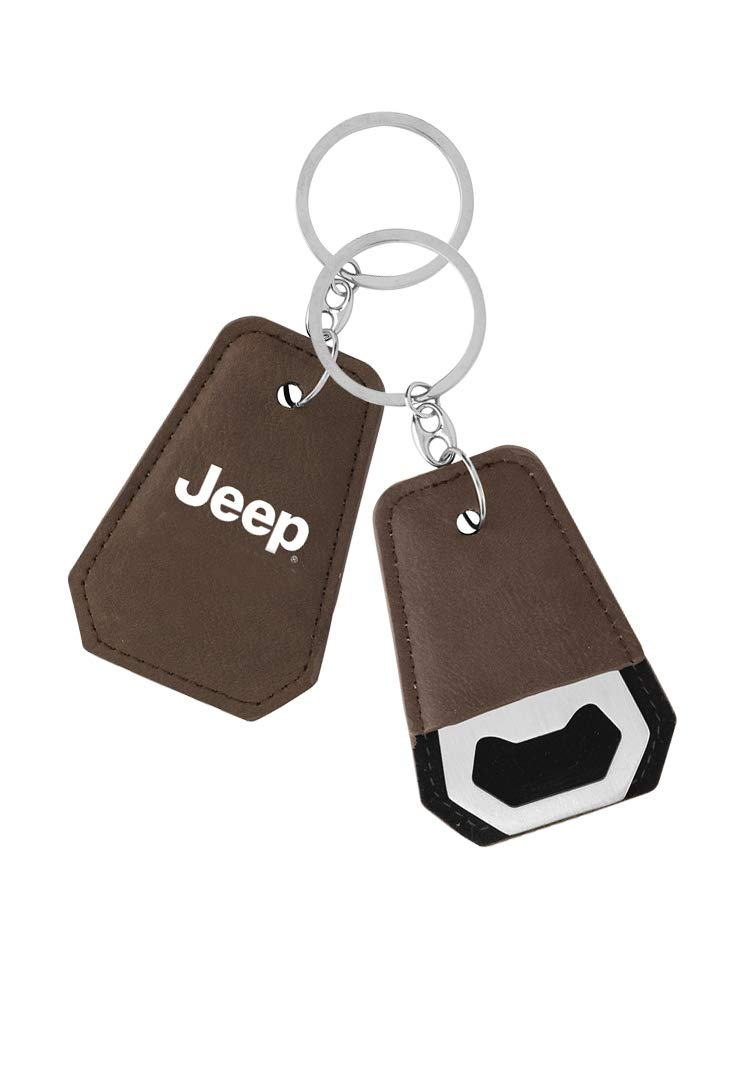 Jeep Leather Bottle Opener Key Chain