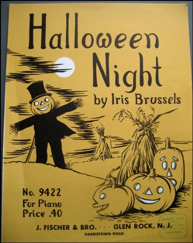 Halloween Night, Piano Sheet Music with Great Graphic, No. 9422 -
