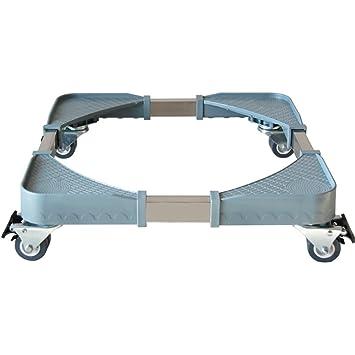 Muebles telescópicos base móvil multifuncional Rodillo del carro ajustable con 4 rodillos Ruedas giratorias de goma para lavadora y refrigerador del ...