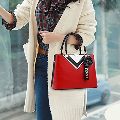 Bags Shoulder Purses Womens Red Handbags Ladies Bag and Tote 6FXXx7wqC