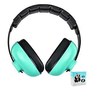 Baby Noise Cancelling Headphones, Ear Protection Earmuffs Noise Reduction for 0-3 Years Kids/Toddlers/Infant, for Babies Sleeping, Airplane, Concerts, Movie, Theater, Firework (Mint Green)