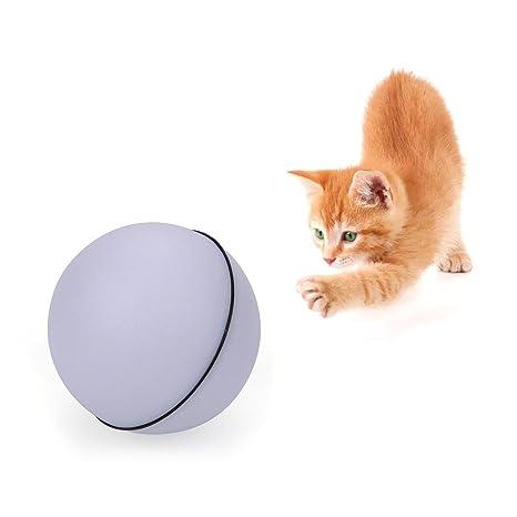 Juguete interactivo para gatos, bola de luz LED de 360 grados, juguete giratorio para
