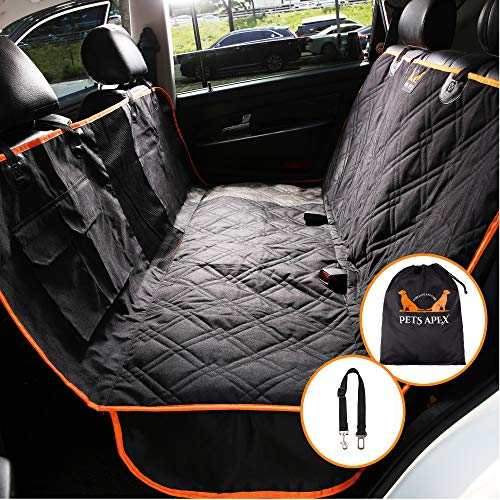 Cheap Pets Apex Dog Car Seat Covers Black Durable Heavy Duty Back Cover For Small Extra Large Dogs 100 Waterproof Washable Nonslip Padded Rear