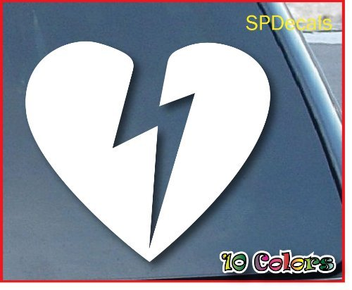 "John Mayer Heartbreak Car Window Vinyl Decal Sticker 4"" Wide (Color: White)"