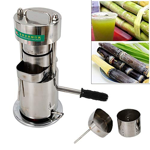 Manual Cane Juicer,Commercial Stainless Steel Sugarcane Juice Extractor,10T Hydraulic,80% Juice Extraction Rate(USA STOCK) (Extraction Sugar Cane)