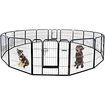 Amazon Com Petpremium Dog Pen Metal Fence Gate Portable