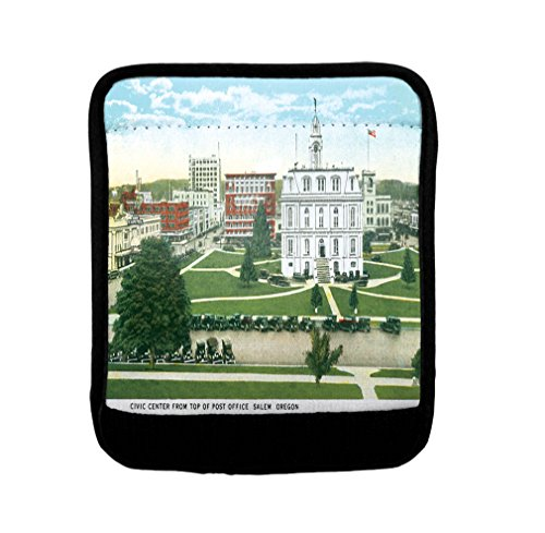 Civic Center From Post Office, Salem , Or Luggage Handle Wrap Finder by Style in Print
