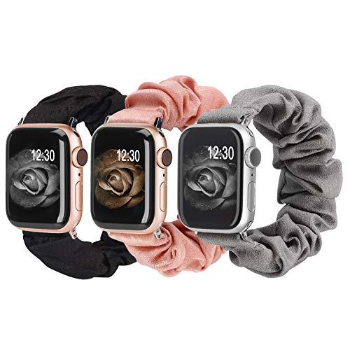 3 Bandas Scrunchies Apple Watch serie 6/SE/5/4/3/2/1 (m/l)