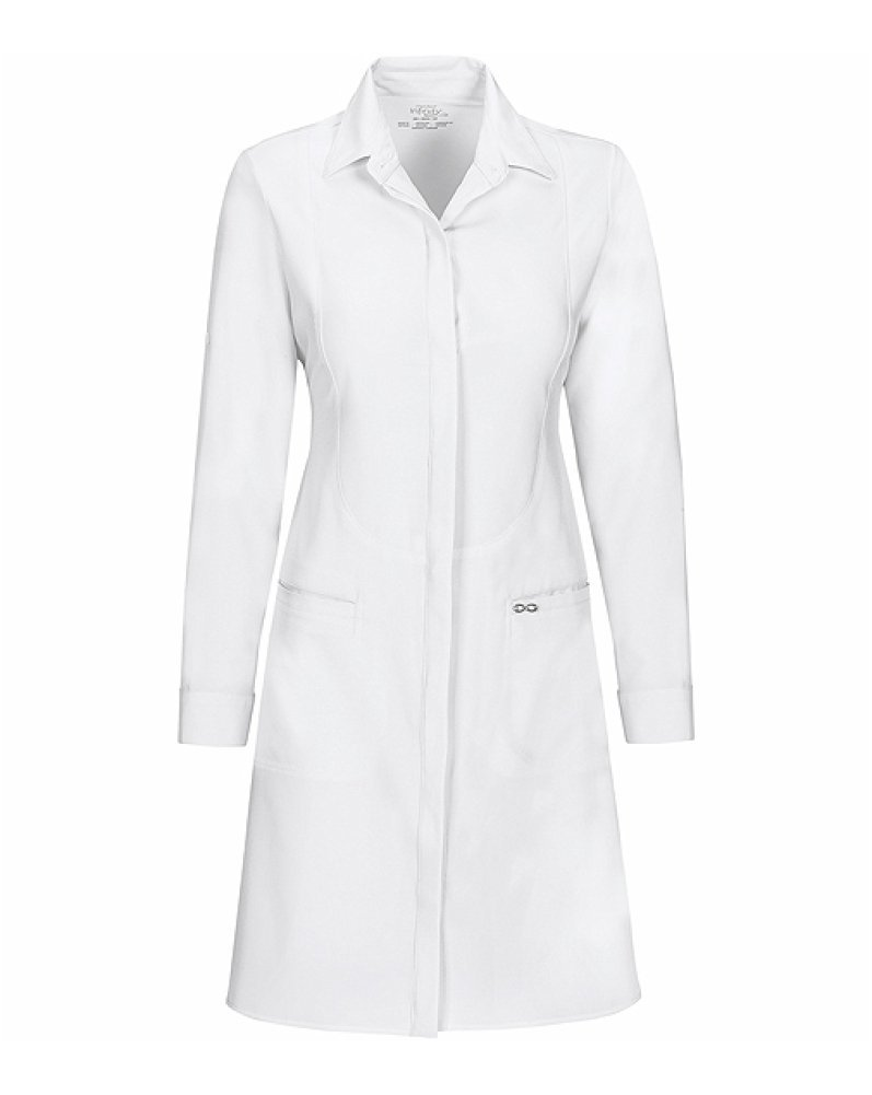 Cherokee Infinity Women's Princess Seam 40''; Lab Coat Xx-Large White